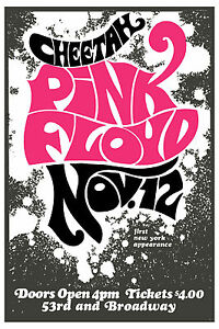 1960 s rock pink floyd at cheetah club new york concert poster 1967