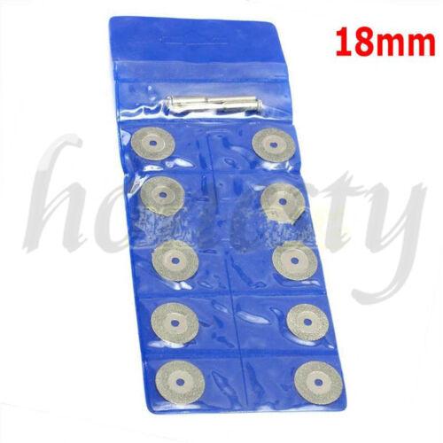 2 Mandrel Dremel 10X Mini Diamond Saw Blade Cutting Disc Rotary Wheel Grinding