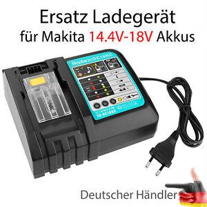 Ladegerät Ersatz für Makita DC18RC 14.4V-18V BL1830 BL1430 BL1815 BL1840 BL1860