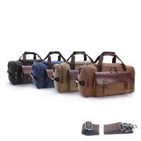 Men Genuine Leather Duffle Travel Gym Shoulder Bag Hand Luggage Carry On Handbag