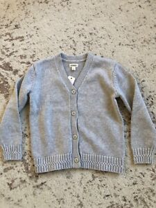Details about New Gymboree Boys Girls Grey Knitted Cardigan Sweater Size S 5 6 Years