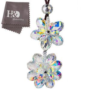 New-Hanging-Suncatcher-Crystal-Flower-Prisms-Rainbow-Pendant-Car-Interior-Decor