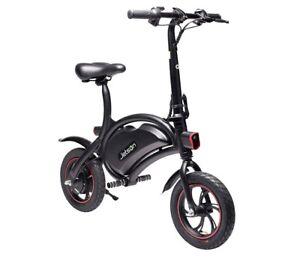 Jetson Bolt Electric Bike Black/Green Compact Commuter Bike (Green Stripe Tire)