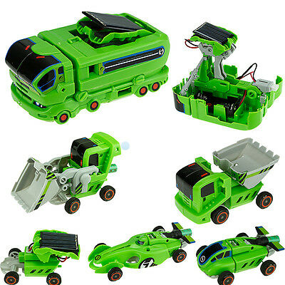 7 in 1 Rechargeable Solar Power Car Kit Educational Birthday Toy kids Gift Funny
