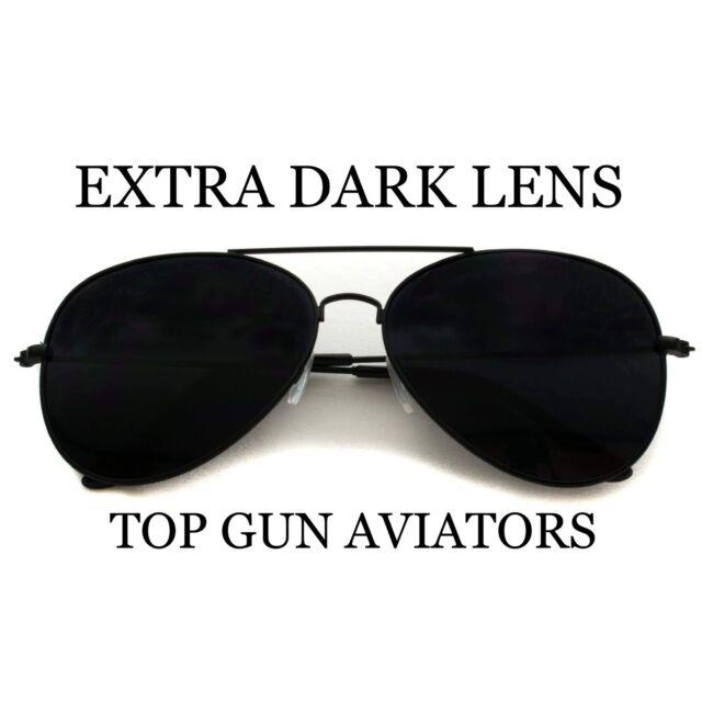 Classic Gold Brown Aviator Sunglasses Vintage Retro Pilot Flight Top Gun Style