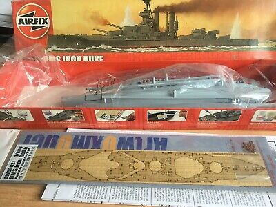 1/600 Airfix Iron Duke With Artwox Wooden Deck Ultimo Stile