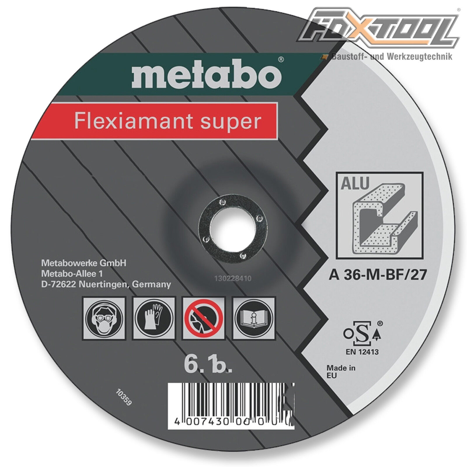Metabo Flexiamant super 125x6x22,2 Alu  Trennscheibe Messing Bronze