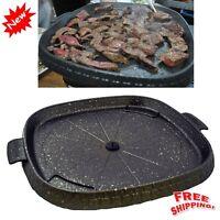 NonStick Smokeless Stove Top BBQ Grill Korean Barbecue Table Top Meat Pan Indoor