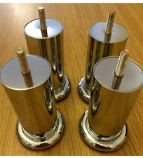 4x CHROME FEET 120mm - FURNITURE FEET/LEGS for SOFAs, BEDS, CHAIRS, SETTEE