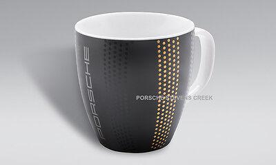 Porsche Coffee Tea Cup Mug 911 Collection Collector's Cup Black Gold  LTD