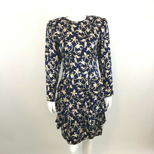 Vintage Maggie London Sheath Dress 4 Jeannene Booh
