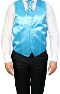 100% Vrai Gilet De Mariage Avec Plastron Et Plastron Taille 72 Uni Turquoise-afficher Le Titre D'origine Remise GéNéRale Sur La Vente 50-70%