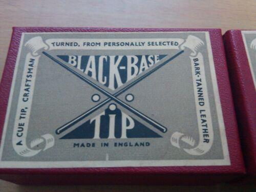 TWO BARK TANNED 10MM BALDOCK UK CLASSIC POOL BILLIARD SNOOKER medium CUE TIPS