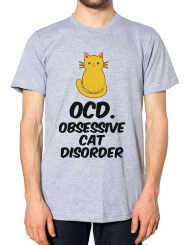 OCD Obsessive Cat Disorder T-Shirt Tee Cute Funny Hipster Meow Sweater Feline