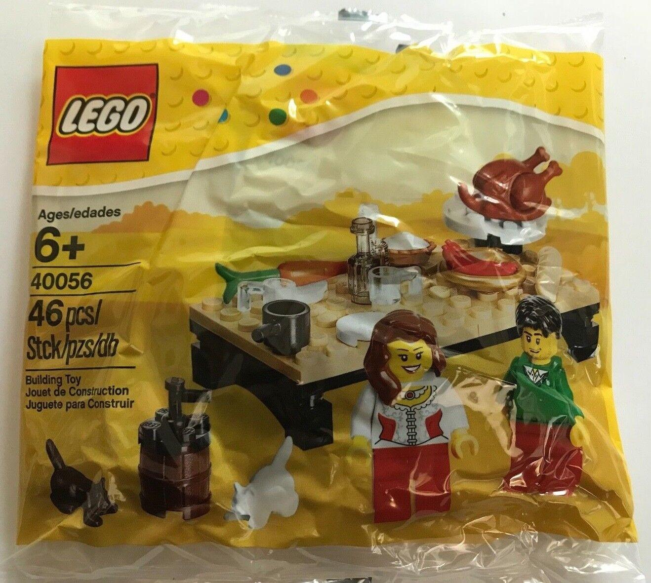 Nuevo 10 Polybag Lego 40056 Thanksgiving Feast Obsequios de Fiestas