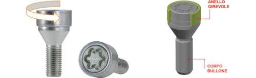 Citroen C3 dal 2003/> Kit Bulloni Antifurto Starlock Farad x Cerchi in lega BE8//E