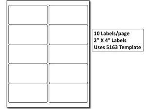 Details About Premium 10up Laser Inkjet Address Labels 4 X 2 10 Labels Sheet 100 Sheets Pack
