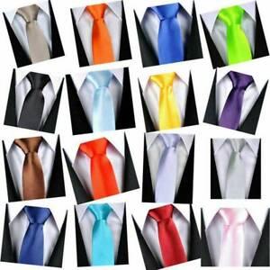 Cravate Slim Fine en Polyester pour Homme Femme Unisex Tie