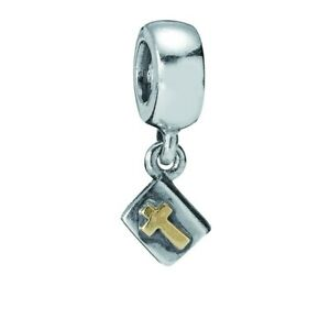 Pandora Two Tone Bible Cross Pendant Charm 790409 Brand New Silver 14k Gold F S 5700302004694 Ebay