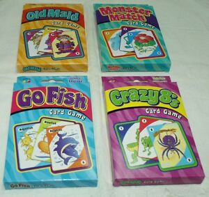 4 quality classic children s card games go fish old maid crazy 8