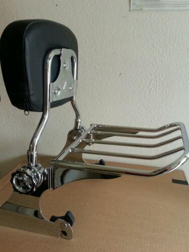 Backrest Sissy Bar Luggage Rack Harley Davidson Softail 2000-2005 Docking kit