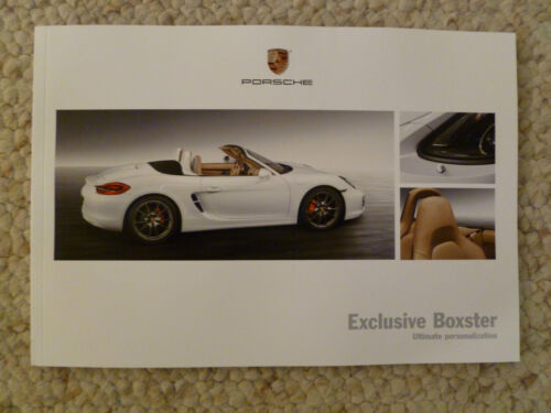 2012 Porsche Boxster Exclusive Personalization Sales Brochure RARE Awesome L@@K