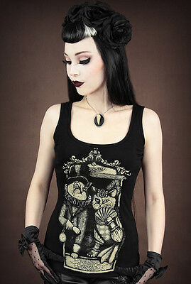 Restyle Tank Top Madame Katze Victorian Gothic Lolita Sir Cat Steampunk XS-XXL