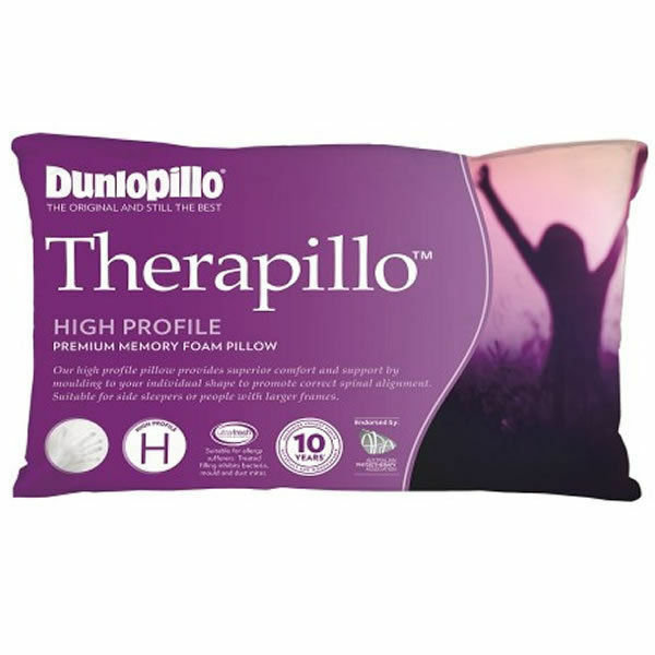 Dunlopillo Therapillo High Profile Memory Foam Pillow RRP  199.95