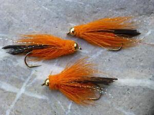 Goldkopf WOOLY WOOLLY BUGGER Streamer # 6 Forelle Top Köder Fliegenfischen 3 St