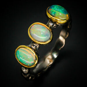 Fine-Art-Wedding-Engagement-Jewelry-Natural-Opal-Sterling-Silver-Ring-RVS269