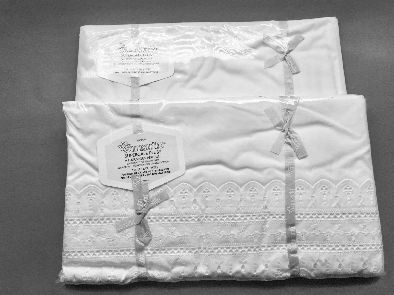 Funda Nordica Desigual Japanese.Hill Wamsutta Supercale Flat Twin Fitted White Eyelet Sheet Set