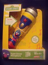BNIB Playskool Sesame Street 123  - Super Grover Microphone