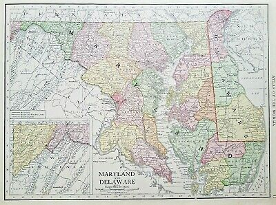 Rand McNally 1916 Map of Maryland Delaware Delmarva | eBay on virginia peninsula, adirondack high peaks map, dominion power service area map, rehoboth beach, delaware map, california shipwreck map, virginia map, northeast us road map, indian river, dewey beach, bethany beach neighborhood map, cape henlopen, olde england map, west va map, east coast map, long island map, state of deseret, gloucester county va map, sussex county, delaware bay, bethany beach, district of columbia statehood movement, middle peninsula, mexico yucatan peninsula map, georgetown de map, new orleans map, md beaches map, lake county map, dc area and surrounding area map, 51st state, maryland map, state of franklin,