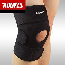Black Adjustable Knee Patella Support Brace Wrap Cap Stabilizer Sports Protector