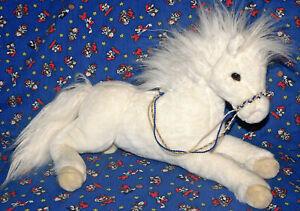 Grande-Douglas-Bianco-Cavallo-Coccolare-Giocattoli-Peluche-16-034-Pony-Grazia