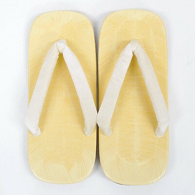 JAPANESE Men's Kimono Zori Geta Setta Sandals NEW WHITE