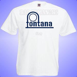 FONTANA-RECORDS-Reggae-Blues-Soul-Music-lovers-Mens-cotton-T-shirt-3XL-WHITE