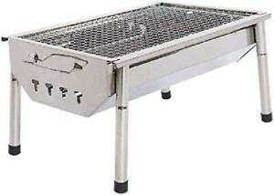 Charcoal Grill Barbecue Portable BBQ Stainless Steel Folding Outdoor Camping