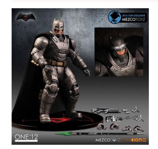 MEZCO Armor Batman One   12 Collective High Quality BJD PVC Action Figure Toy