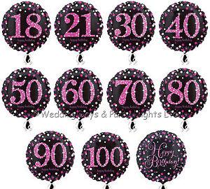 Image Is Loading 18 034 Foil Helium Balloon Black Pink Purple