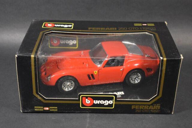 Model Cars For Sale >> Burago No 3011 Ferrari 250 Gto 1962 Red 1 18 Die Cast Model Car