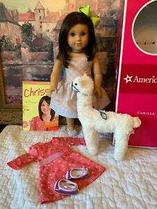American-Girl-Chrissa-Doll-of-Yr-2009-Meet-amp-Sundress-Llama-Book-EUC