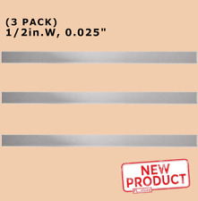 3 Pack Stainless Steel Sheet Metal Strips 12 Inch Wide X 12 Long X 025 Thick
