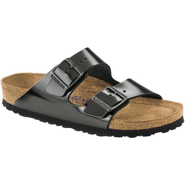 Birkenstock arizona SFB cuero liso weichbettung zapatos 1000295 ancho estrecho