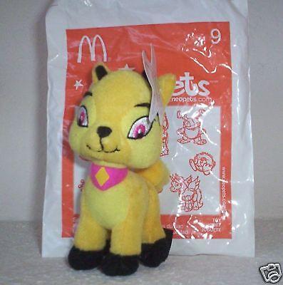 McDonalds Neopets Yellow Grarrl Plushie MIB