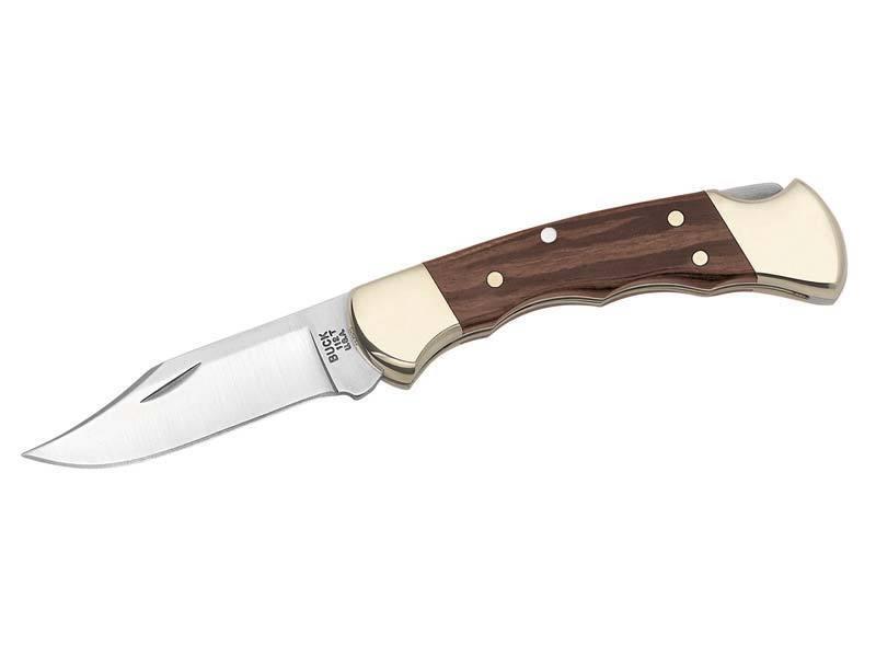 280211 Buck Taschenmesser Ranger Finger Grooved Stahl 420 HC Holzschalen