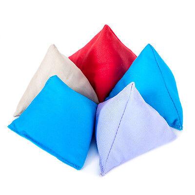 Turquoise 5 Pack Coton Jonglage Pyramide bean sacs pratique capture triangulaire