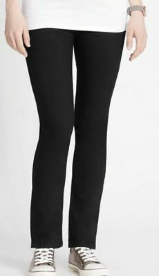 Bnwt Marks & Spencer Maternity Jeans Uk 8 Black Over The Bump Panel Cotton Rich Drip-Dry