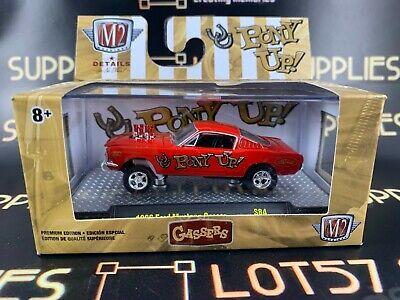 Pony UP Black Gasser 1966 Ford Mustang *** M2 Machines 1:64 NEU