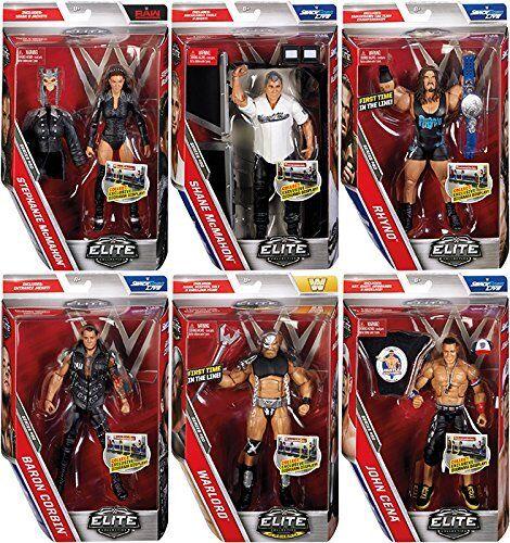WWE ELITE SERIES 50 ALL 6 COMPLETE BUNDLE NEW WWF WRESTLING MATTEL ACTION FIGURE